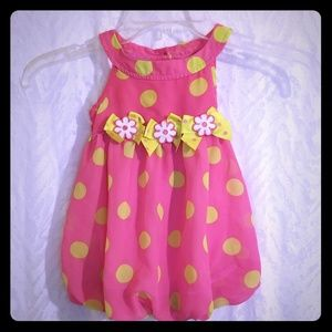 Adorable Baby Girl Floral Dress.
